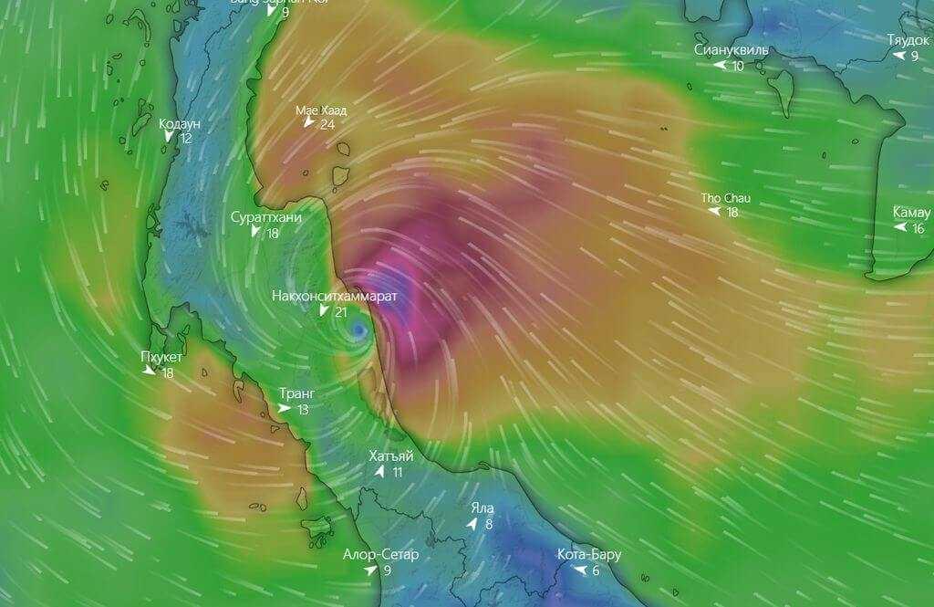 шторм pabuk фукуок