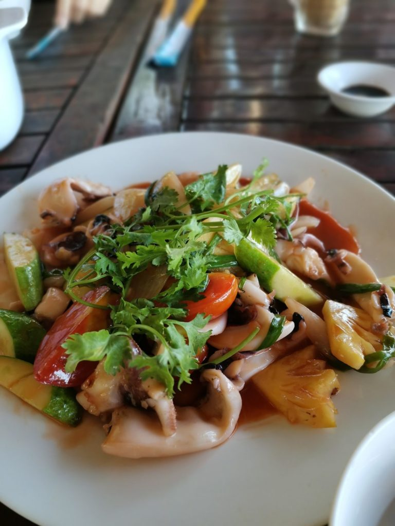 кальмары на гриле во вьетнаме
