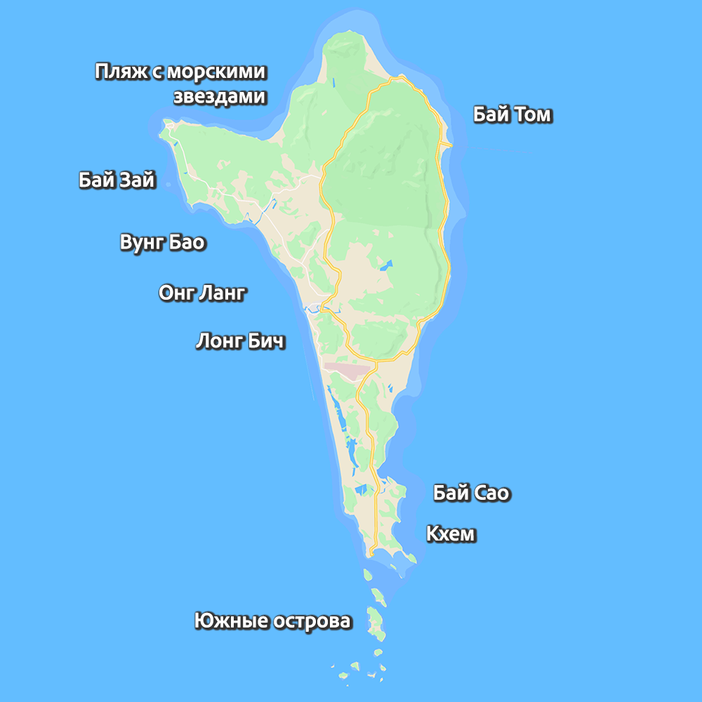 карта пляжи на Фукуоке
